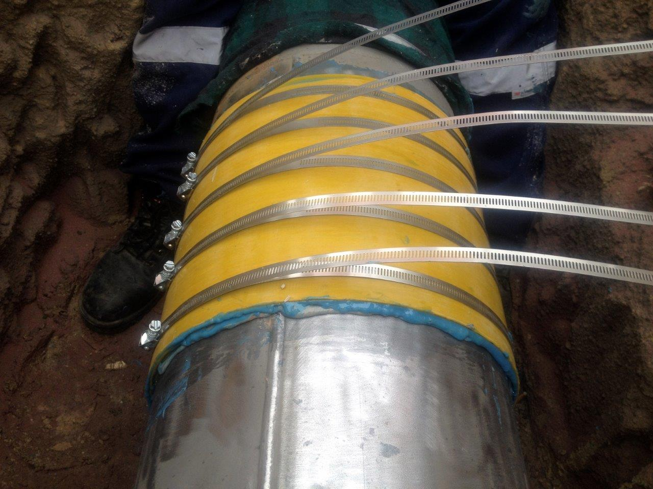 Gas Pipeline Repair Using Clock Spring.
